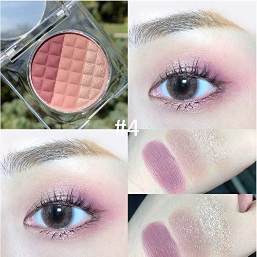 Qianren-Butter-ähnliche Highlighter puder-Lidschatten-Palette mit spiegelmatten und schimmernden Schattierungen Pigmentreiche Augen-Make-up-Palette