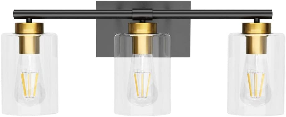 New York Mall Aipsun 3 service Lights Vintage Vanity Light Glas Mirror Over Clear with