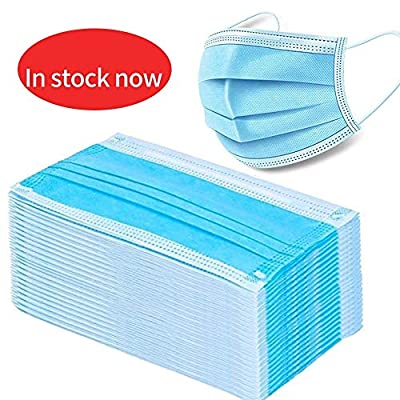 Disposable Mask Filter 3-ply Face Mask Personal Protection Dust-Proof Anti Spittle Eye Mask for Earloop (300 PCS)