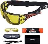 ToolFreak Rip-Out, Gafas de Seguridad con Cristales Amarillos para Trabajo y Deporte,...