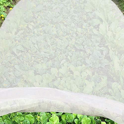 JYCRA Paño anticongelante para plantas, tela no tejida, reutilizable, manta flotante para plantas de jardín, vegetales, tela sin tejer, Blanco, 2 m x 10 m