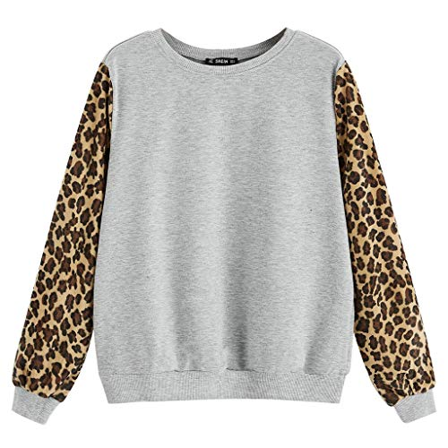 Why Choose Severkill Women's Pullover Leopard Print Long Sleeve Patchwork Sweatshirts Tops Casual Cu...