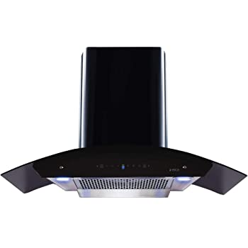 Elica 90 cm 1200 m3/hr Filterless Auto Clean Chimney with Free Installation Kit (WDFL HAC TOUCH 90 MS, Touch + Motion Sensor Control, Black)