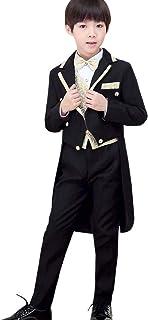 YFCH 燕尾服 男の子 子供 スーツセット キッズ フォーマル 上下5点セット 発表会 結婚式 入学式 卒業式 七五三 110/120/130/140/150/160