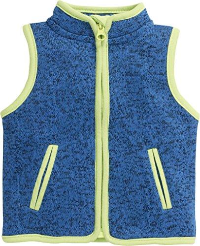Schnizler Schnizler Baby Fleece-Weste, ärmellose Unisex-Jacke für Mädchen und Jungen mit Reißverschluss und Kontrastnähten