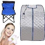 Portable Infrared Sauna XL Deluxe 1000 Watt FIR FAR Infrared Sauna with Heating Food Pad and Chair