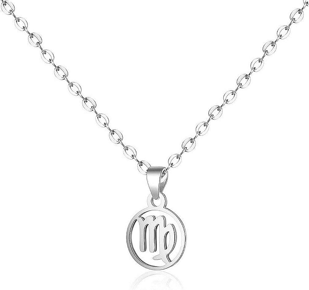 Zodiac Sign Necklace Las Vegas Mall 12 Chain Constellations Surprise price 50cm