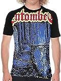 Entombed Left Hand Path Metal Band Logo Men's Short Sleeve Baseball T-Shirt Classic Round Neck Ultra Cotton Tee Tops,Black,X-Large
