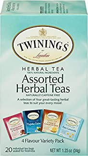 Sponsored Ad - Twinings of London Assorted Herbal Tea Bags, 20 Count (Pack of 6)
