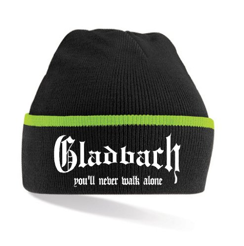 Gladbach Ultras You´ll Never Walk Alone Strickmütze|Black-Green