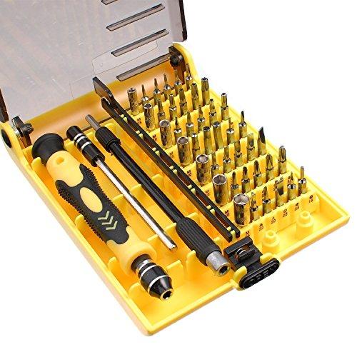 MMOBIEL 45 in 1 Präzision Reparatur Werkzeug Set Magnetisch Schraubenzieher für Feinmechanik Diverse Geräte (JK-6089A)