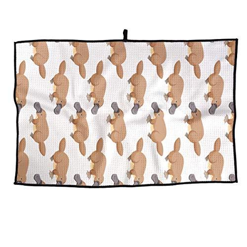 NVCBHk Platypus Duckbill Golf Towel Sports Towel Player Towel 23.6x15 inches