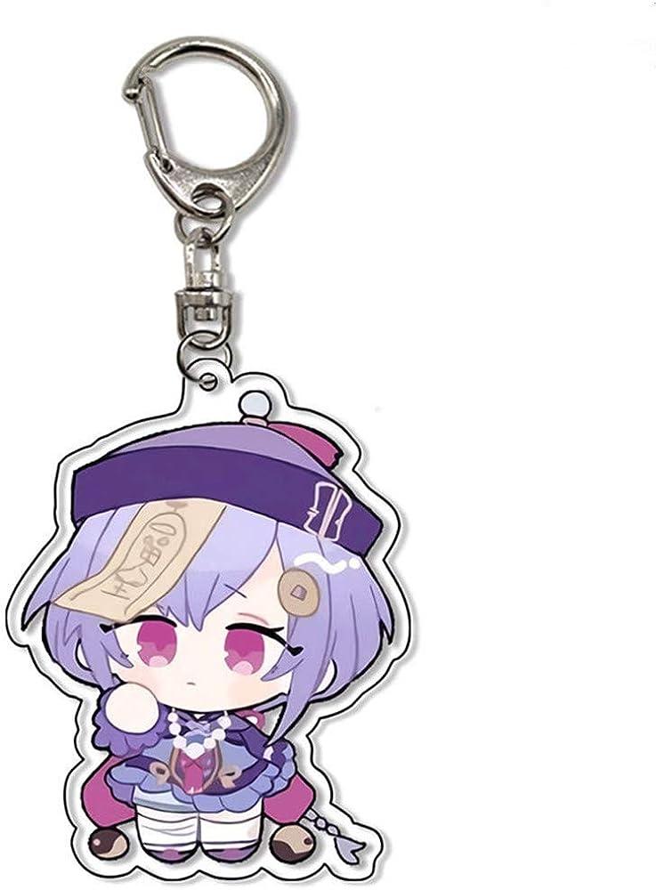 Genshin Impact Cosplay Cute Mini Version Acrylic Keychain For Car Bag G-shaped buckle