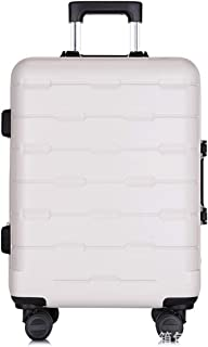 """Stylish and durable Wheels Travel Rolling Boarding,21"""" 25""""Inch 100% Aluminium Spinner Aluminium Convenient Trolley Case,Super Storage Luggage Bag, high quality (Color : White, Size : 25inch)"""