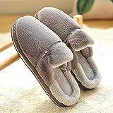 LJXLXY Zapatillas de Mujer de casa Zapatillas de algodón del hogar Hombres Indoor Invierno Inferior Grueso de Felpa casa cálidos Algodón SPA Zapatillas (Color : A, tamaño : 42-43)