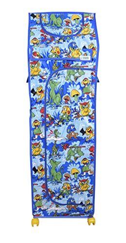 Flipzon Multipurpose 6 Shelve Foldable Baby Wardrobe/Toy Box(Jungle), Blue
