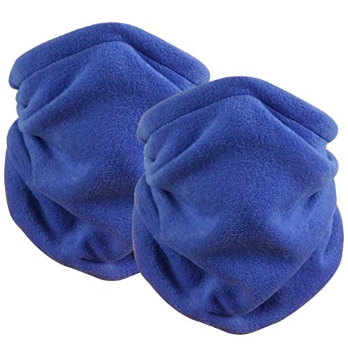 softanUnisex Bandanas Ajustables Bragas para el Cuello y la Cabeza, 2 Pack, Multifuncionales y Suaves de Microfibra Con Cierre de Cordón, Bufanda Tublar para Invierno,Todas Las Estaciones, Azul