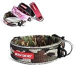 EzyDog Neo Wide - Collar De Perro Extra Ancho - Modelo Premium con Acolchado y Accesorio para La Identificación del Perro - Collares para Perros - Neopreno, Reflectante (L, Camuflado Verde)