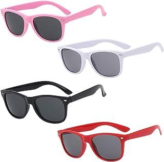 QSXX - Polarizadas Niños Gafas de Sol, 4 Piezas Gafas de Sol POLARIZADAS,Gafas de Sol de Moda Retro Moda Protección UV Gafas de Sol UV400 Protección 100% Contra Rayos Ultravioleta para Niños y Niñas