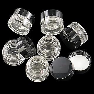 FSHB 10 pièces 5ML bocaux en Verre Ronds clairs avec doublures intérieures et couvercles contenants cosmétiques Pots de crème