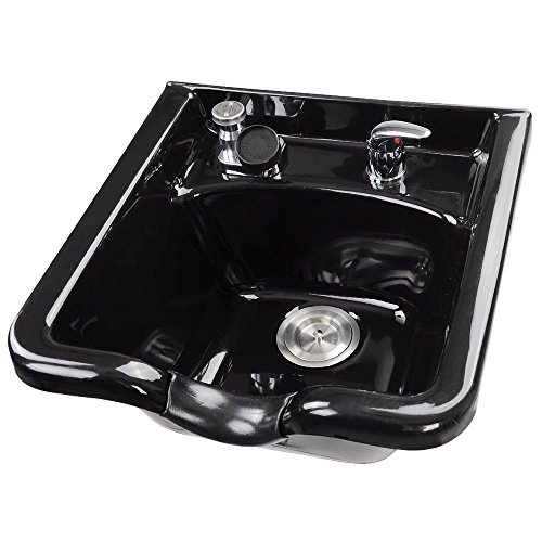 AW Shampoo Bowl Hair Sink with Gel Neck Rest Hair Trap CUPC Vacuum Breaker Barber Salon Spa Mounting Ability