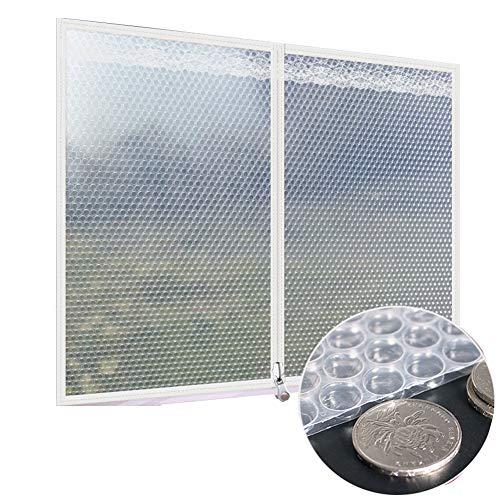 GGYMEI Abdeckplane Holz Fenster Isolierfolie Für Winter Schlafzimmer Dichtung Anti-Privacy Kunststoff Isoliervorhang Dicke 4mm, Anpassbar (Color : White, Size : 160x150cm)