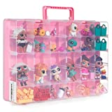 Bins & Things Toy Storage Organizer and Display Case Compatible with LOL Dolls, Shopkins, Calico Critters and LPS Figures - Portable Adjustable Box w/Carrying Handle