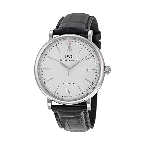 d45e26d9cb1 IWC Men s Stainless Steel Quartz Watch with Pig Skin Leather Strap