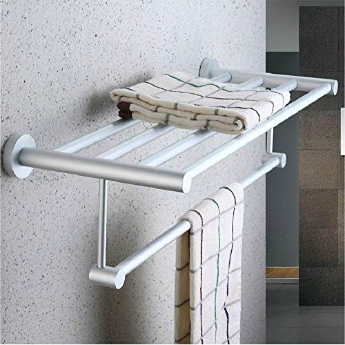 HYY-YY Aan de muur bevestigde rail badkamer rack badkamer rack Rekken hanger Ronde voet storage rack ruimte aluminium rack badkamer rack badkamer plank