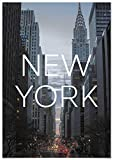 Panorama Cuadro de Aluminio Ciudad de New York 35 x 50 cm - Impreso en Aluminio Dibond Blanco Cuadros para Salón - Cuadros para Dormitorio - Láminas Decorativas - Cuadros Modernos