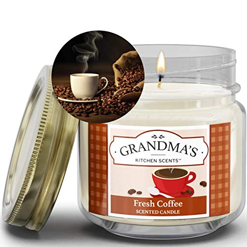 Fresh Coffee Scented Candles for Home | Non Toxic Long