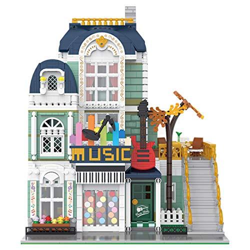 Elroy369Lion MOC Music Store - Juguete con flores y plantas, miniarquitectura, juguete educativo, regalo para adultos y jóvenes (3005 unidades)