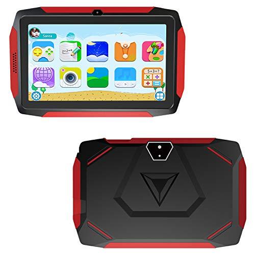 Kindertablet, Kinder Edition Tablet 7 Zoll Android 9.0, 16 GB ROM, Kindersicherung, iWawa vorinstalliert, über 40 Lern und Trainingsspiele Apps,mit kindersicherem Etui und 32 GB Micro SD Karte