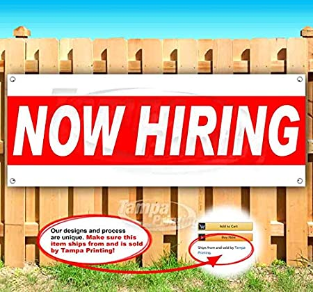 Flag CDL Drivers Now Hiring Extra Large 13 Oz Heavy Duty Vinyl Banner Sign with Metal Grommets