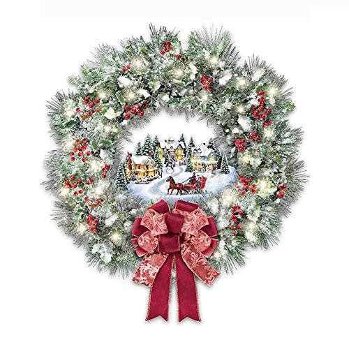 YuanMli Árbol de Navidad escaparate de cristal impermeable pared pegatinas de ventana (F)