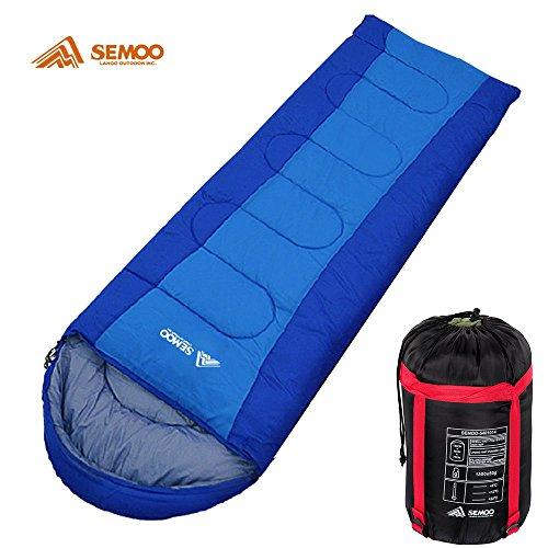 Semoo - Saco de dormir - Saco de dormir formato sábana - Saco de dormir de 3 estaciones - 200 x 70 cm - Disponible en 2 colores