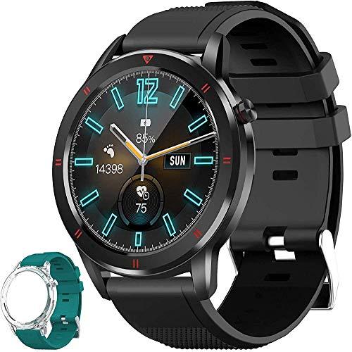 Reloj inteligente con monitor de ritmo cardíaco, pantalla táctil de 1,3, podómetro, reloj inteligente para hombre y mujer, IP68, resistente al agua, compatible con iPhone Android