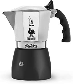 Bialetti - New Brikka, Moka Pot, the Only Stovetop Coffee Maker Capable of Producing a Crema-Rich Espresso, 4 Cups (5,7 O...