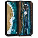 kwmobile Wooden Case for Motorola Moto G7 / Moto G7 Plus -