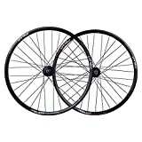 MTB Bicicleta Set de Ruedas de Bicicleta 26 Pulgadas Bicicleta de montaña Lámparas de Doble Pared Discal de Freno de Disco QR para 7/8/9/10 Cassette de Velocidad 32 Hablado (Color : Black hub)