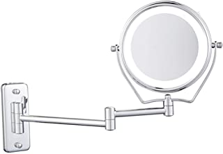 6 Inch Extendable Makeup Mirror Wall Mount, 7X Magnifying Vanity Mirror 360 º Rotation for Living Room/Beauty Salon/SPA Hotel
