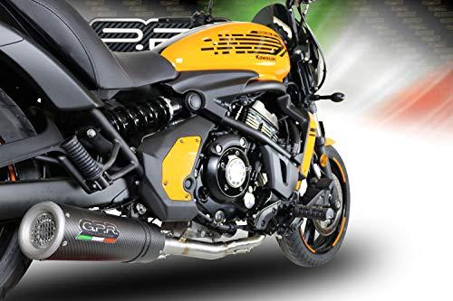 GPR EXHAUST SYSTEM Tubo de escape GPR silenciador para Kawasaki Vulcan 650 2018/19 Terminal de escape homologado Rumor con colector Racing, Serie M3 Carbon Moto 3 World Champion, réplica