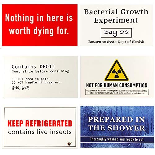 Food Theft Deterrent Labels - Funny Gift for Office, Coworkers, Employees, Roommates