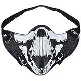 AIEOE - Hombres Máscara de Cuero a Prueba de Viento para Motocicleta Mascarillas de Punk...