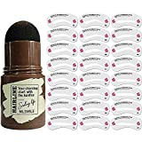 Augenbrauen Stempel, One Step Brow Stamp Shaping Kit Eyebrow Stamp Waterproof with 24Pcs Eyebrow...