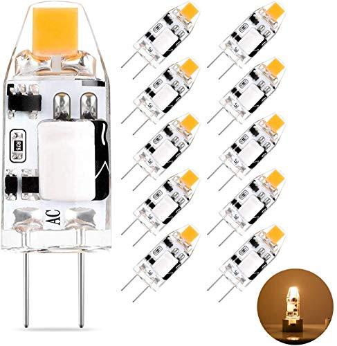 G4 LED Lampen 1.5W 150LM, ersetzt 10W 15W Halogenlampe, Warmweiß 2700K 12V AC/DC G4 LED Leuchtmittel Birnen, Nicht Dimmbar Stiftsockellampe Glühbirne 360° Abstrahlwinkel, 10er Pack Eco.luma
