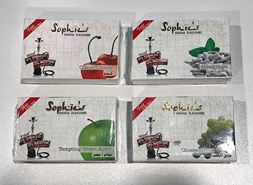 Pack 4 paquetes Shisha sin nicotina marca Sophie´s 50GR por paquete, total 200GR