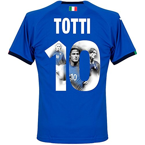 Italien Home Trikot 2018 2019 + Totti 10 (Gallery Style) - S