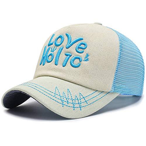 sdssup Outdoor-Reisen Sonnenschirm Hut männlich und weiblich sowie Netto atmungsaktive Baseballmütze blau einstellbar
