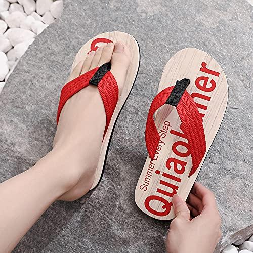 Yumanluo Hombre Verano Zapatillas Flip Flops Sandal Zapatos de Playa y Piscina,Pantuflas de Personalidad EVA-H_44